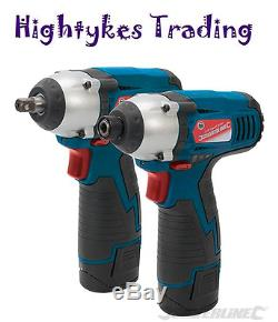 10.8V impact wrench & cordless drill Impact Driver Twin Pack Silverline 459654