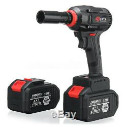 128V LED Light Brushless Cordless Impact Wrench Drill Hammer & 2 Li-ion Battery