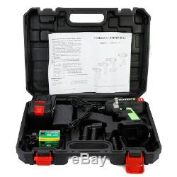 128vf 18 in 1 Electric Brushless Cordless Impact Wrench Drill Tool 110V 16800mAh