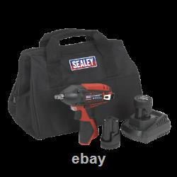 12V Cordless Power Tool Compact Impact Wrench 3/8 Canvas Bag 2 Batteries SUM21