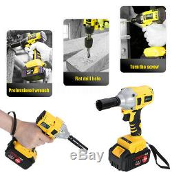 12 Pcs 19800mAh 1/2 Electric Brushless Impact Wrench Cordless Drive Drill