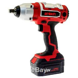 18v Li-ion Cordless Rechargeable Impact Wrench Fast Charger Case + 15pc Sockets