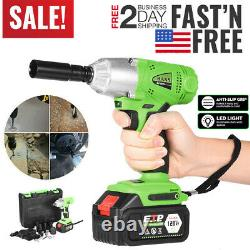 1/2'' 16800mAh Electric Brushless Cordless Impact Wrench Drill High Torque Tool