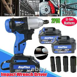 1/2 21V 460NM Rechargeable Torque Impact Wrench Cordless Replacement 2 Li-Ion