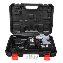 1/2 Cordless Brushless Impact Wrench+10000mAh 2 Lithium-Ion Battery High Torque