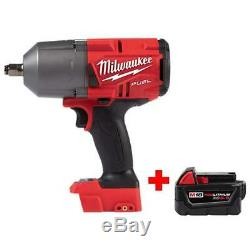 1/2 Inch Impact Wrench Milwaukee 1400 18v Lithium Cordless Driver with Battery