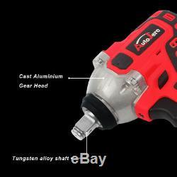 1/2 in Impact Wrench Socket Rattle Gun Cordless Set Battery 18V/20V High Torque
