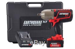 20V Max Lithium 1/2 in. Cordless Xtreme Torque Impact Wrench Kit Auto Shop Gun