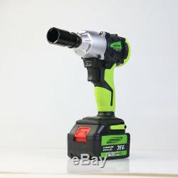 21V Cordless Lithium-Ion 1/2 High Torque Impact Wrench Rattle Nut Gun DEWORX