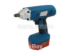 24 Volt 1/2 inch Drive Cordless Impact Wrench Gun With 2 Batteries. New