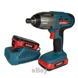 24v LiIon Cordless Battery Impact Wrench Gun 1/2 Drive With 2 Twin Lithium Bat