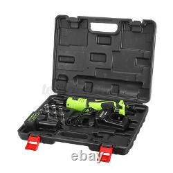 26V 160NM 3/8'' Cordless Electric Ratchet Right Angle Wrench Tool +Battery Kit