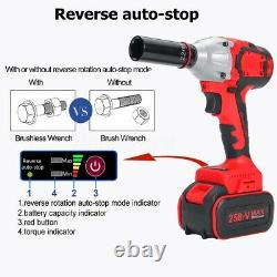 530Nm Electric Cordless Impact Wrench Gun Driver Tool 1/2 Ratchet Drive Sockets