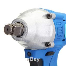 68V 220V Electric Cordless Impact Wrench Brushless Motor High Torque +2 Battery