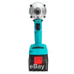68V 8000mAh Brushless Cordless Impact Wrench 2 Li-Ion Battery Charger With Box
