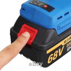 68V Cordless Electric Impact Wrench Brushless High Torque Power Tool + 2 Battery