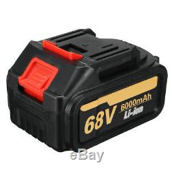 68V Impact Wrench 6000mAh 2 Speed Cordless Li-Ion Brushless Motor + 2 Battery