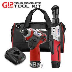 ACDelco 2-Tool Kit- 3/8 Cordless Ratchet Wrench + 3/8 Impact Wrench ARW12103-K1