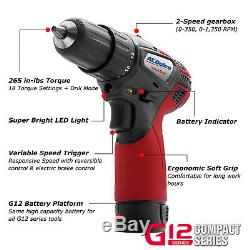 ACDelco G12 3-Tool Cordless Combo 3/8 Ratchet Wrench+Drill+Impact Driver, K10