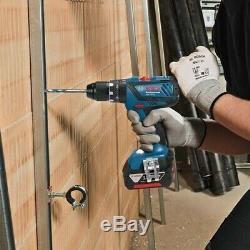 Bosch 18v GSB18V-28C Combi Hammer Drill GDX18V-180 Impact Driver Wrench + Lboxx