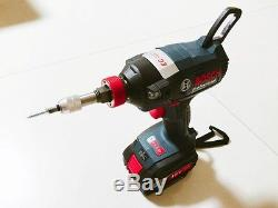 Bosch GDX 18V-EC Impact Wrench Driver Professional Cordless with 4. OAh x 2