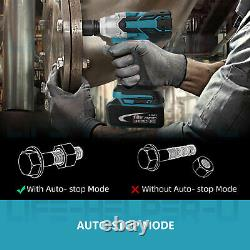 Brushless Cordless Impact Wrench With Battery Charger 1/2 18V Replace Makita US