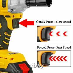 Brushless Impact Wrench 68V 1/2'' 9000mah Cordless Battery Torque Rattle Gun Set