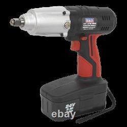 CP2400MH Sealey Cordless Impact Wrench 24V 2Ah Ni-MH 1/2Sq Drive 325lb. Ft