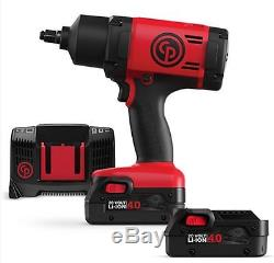 Chicago Pneumatic 1/2 20V Cordless Impact Wrench Kit 775 Ftlbs 4.0AH- CP8848