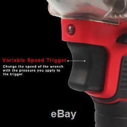 Cordless 1/2 20V Brushless Impact Wrench High Torque Rattle Gun rachet battery