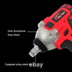 Cordless Brushless Electric Impact Wrench 1/2''Sockets Power Tools With Battery