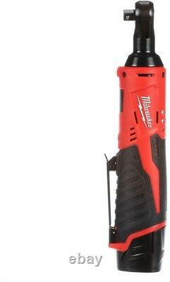 Cordless Electric 12 Volt Lithium Ion 3/8in Ratchet Kit Battery Charger Tool Bag