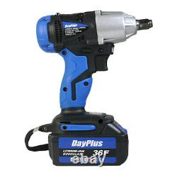 Cordless Electric Impact Wrench 1/2'' Driver 420Nm Li-ion Battery with 4 Sockets