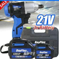Cordless Electric Impact Wrench Rattle Nut Gun 1/2 Driver 420Nm Li-ion Battery