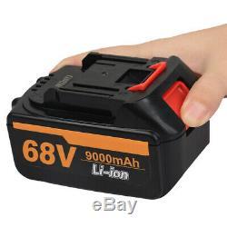 Cordless Electric Impact Wrench Sockets set 68V Brushless + 2 Battery + Box