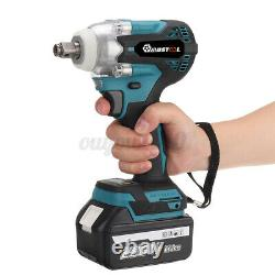 Cordless Impact Wrench 1/2'' Brushless Driver Ratchet Nut Gun With Li-ion Battery