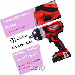 Cordless Impact Wrench 1/2 Inch Compact Driver 20V Battery 1/2 Inch High Torque