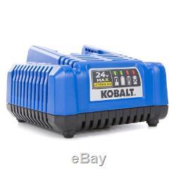 Cordless Impact Wrench 24-Volt Kobalt Max 1/2-in Drive Brushless (1 Battery)