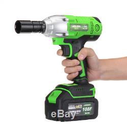Cordless Impact Wrench Socket Gun 1/2 18V Hammer Drill 2X 10.8Ah Li-ion Battery