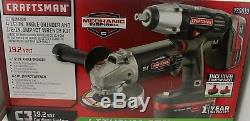 Craftsman Angle Grinder Impact Wrench 19.2v C3 (939019) Cordless with2 Batteries