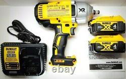 DEWALT 20V Cordless 1/2 Impact Wrench Hog Ring Anvil DCF899HB Kit DCB204 899HB