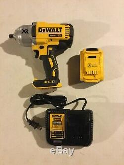 DEWALT 20V Cordless High Torque 1/2-in Impact Wrench with 4.0Ah Detent DCF899