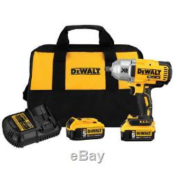 DEWALT 20V MAX Cordless Li-Ion 1/2 Impact Wrench with 2 Batteries DCF899HP2 New