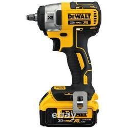DEWALT 20V MAX XR Li-Ion 3/8 in. Compact Impact Wrench Kit DCF890M2 New