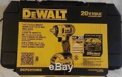 DEWALT 20 Volt Max Lithium Ion 1/2. Cordless Impact Wrench Kit DCF880HM2