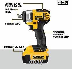 DEWALT DCF883M2R 20V MAX Li-Ion Cordless 3/8-Inch Impact Wrench Kit with Hog Ring