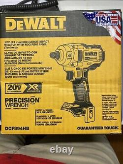 DEWALT DCF894HB 20V Max XR 1/2in. Mid-Range Cordless Impact Wrench with Hog Ring