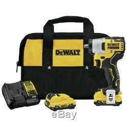 DEWALT DCF902F2 XTREME 12V MAX BL 3/8 in. Li-Ion Impact Wrench Kit New