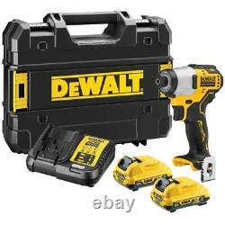 DeWalt DCF801D2 12V XR Brushless Sub Compact Impact Driver 2 x 2Ah Batteries