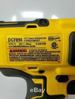 DeWalt DCF894B 20V MAX XR 1/2 in Mid Range Brushless Cordless Impact Wrench